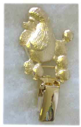 poodle standard lion cut ring clip 22ct gold plate code p09 rc g £ 13 ...